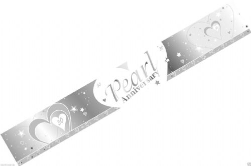 FOIL BANNER PEARL WEDDING ANNIVERSARY 9FT